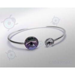 PULSERA RIVOLI 12 Y 8 MM VITRAIL LIGHT PLATA 925
