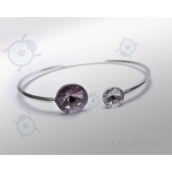 PULSERA RIVOLI 12 Y 8 MM LIGHT AMATISTA PLATA 925