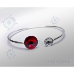PULSERA RIVOLI 12 Y 8 MM LIGHT SIAM PLATA 925