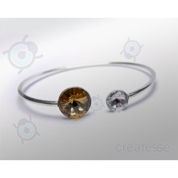 PULSERA RIVOLI 12 Y 8 MM LIGHT COLORADO T. PLATA 925