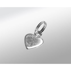 COLGANTE CORAZON PLATA 6MM CHAPITA 925ML