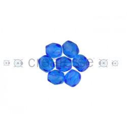 BOLA FACETADA 6MM 6031 CAPRI BLUE (25 UNIDADES)