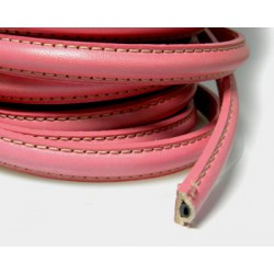 20 CM CORDON CUERO BORDON HUECO 10X5MM ROSA