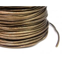 CORDON CUERO 2,00 MM HINDU N. 52 ORO VIEJO METALICO METRO