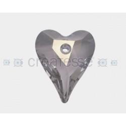 CORAZON 37X30 ID 3MM - 1 UD 001 SILVER SHADE CRYSTAL