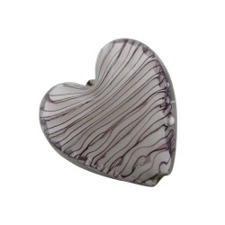 CRISTAL WAVED STRIPES CORAZON 18MM BLANCO MALVA (ID 1MM)