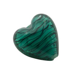 CRISTAL WAVED STRIPES CORAZON 18MM MALAQUITA (ID 1MM)