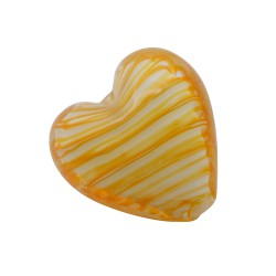 CRISTAL WAVED STRIPES CORAZON 18MM MELOCOTON BLANCO(ID 1MM)