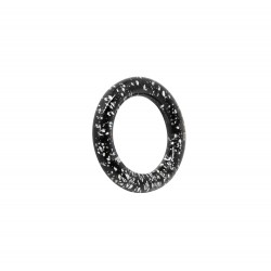ARO BASE PLATA 32MM NEGRO