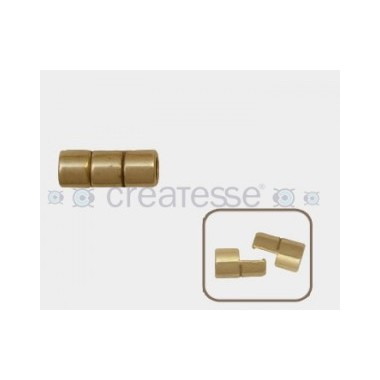 CIERRE METAL MAGNETICO TUBO (ID 5MM) BRONCE ANTIGUO