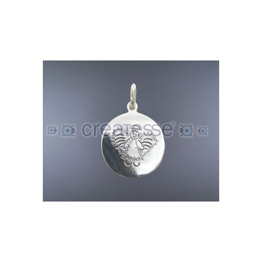 COLGANTE PLATA CHAPA 16MM SWEET ANGEL