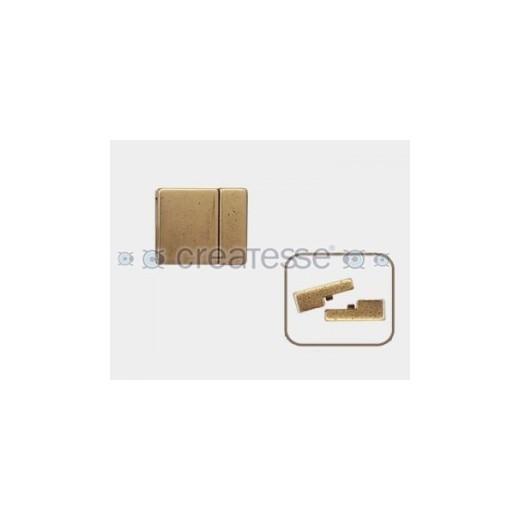 CIERRE METAL MAGNETICO PLANO 13X2 BRONCE ANTIGUO