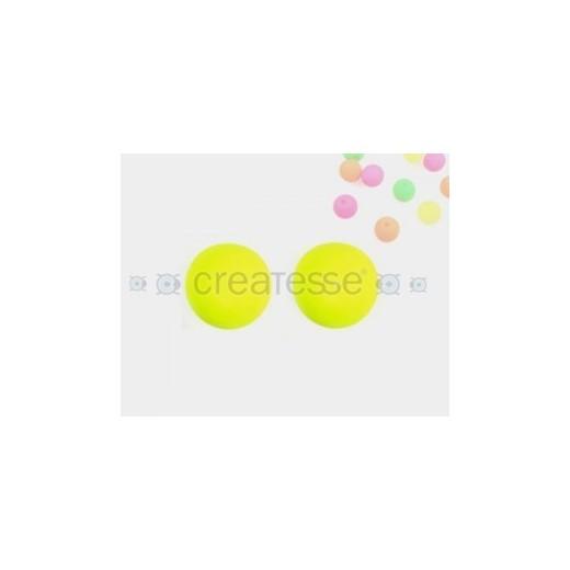 CRISTAL NEON BOLA 12MM (ID 1MM) -UNIDAD