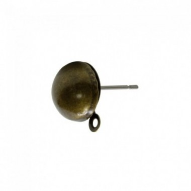 PENDTE M-BOLA 10MM CON ASA METAL BRONCE ANTIGUO