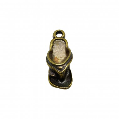 COLGANTE ZAMAK CHANCLAS 16X6MM BRONCE ANTIGUO