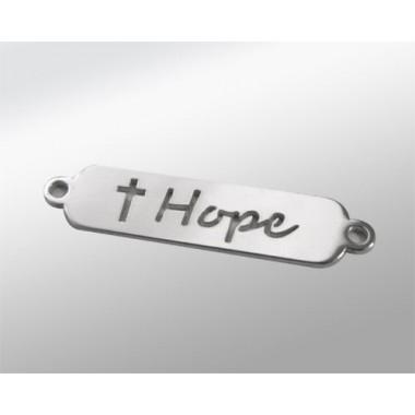 CHAPA PLANA PLATA 22X6MM CON DOS ASAS- HOPE