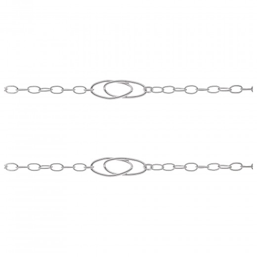 Cadena eslabones ovalados plata 925ml- 10cm