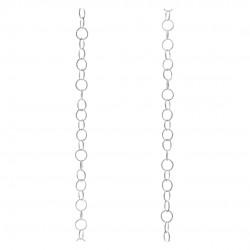 Cadena Plata eslabón redondo - 10cm