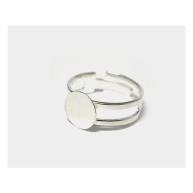 ANILLO METAL BASE REDONDA 10MM