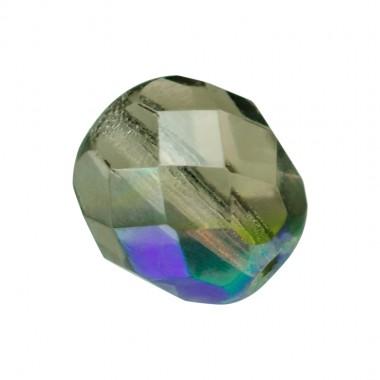 BOLA FACETADA 6MM 4001 BLACK DIAMOND AB (25 UNIDADES)