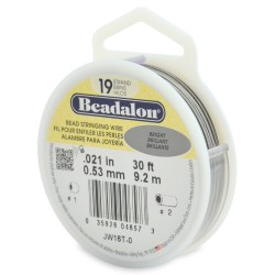 CORDON ACERO 19-021 BRILLANTE (0,53 MM) 9,2 M BEADALON