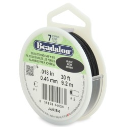 CORDON ACERO 7-018 NEGRO (0,46MM) 9,2M BEADALON CARRETE