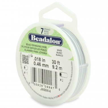 CORDON ACERO 7-018 BLANCO (0,46MM) 9,2M BEADALON CARRETE