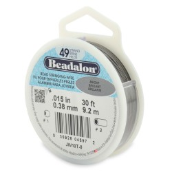 CORDON ACERO 49-015 BRILLANTE (0,38 MM) 9,2 M BEADALON