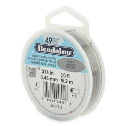 CORDON ACERO 49-018 BRILLANTE (0,46 MM) 9,2 M BEADALON