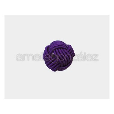 BOLA NUDO CHINO NYLON 12MM MORADO