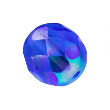BOLA FACETADA 4MM AB CAPRI BLUE 6031AB PAQUETE 100 UNIDADES