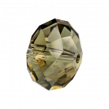 RONDELLA CRISTAL FACETADA 10X14MM -4 UND BLACK DIAMOND