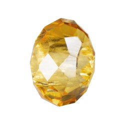 RONDELLA CRISTAL FACETADA 10X14MM TALADRO 5MM LIGHT TOPAZ