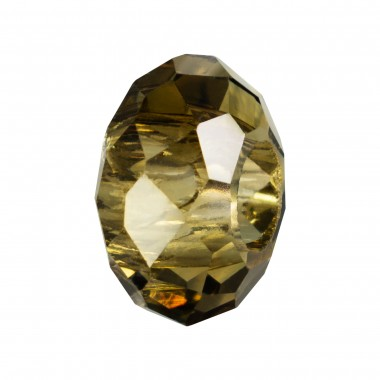 RONDELLA CRISTAL FACETADA 10X14MM TALADRO 5MM BLACK DIAMOND