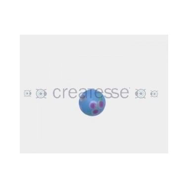CRISTAL BOLA DECORADO 8,5MM (ID 1,5MM) TURQUESA-ROSA