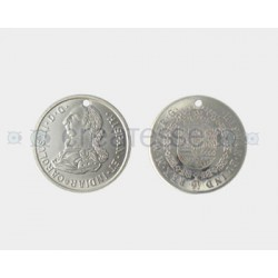 MONEDA ACERO CARLOS III 24mm