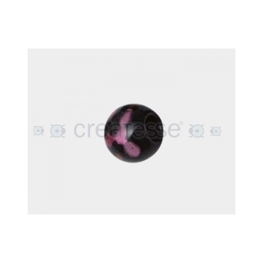 CRISTAL SPOT-ON-BLACK 16MM TAL. 6MM GRANATE