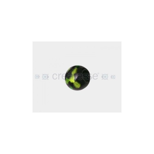 CRISTAL SPOT-ON-BLACK 16MM TAL. 6MM VERDE