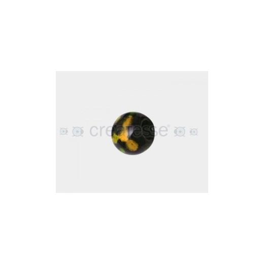 CRISTAL SPOT-ON-BLACK 16MM TAL. 6MM AMBAR