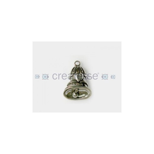 COLGANTE ZAMAK CAMPANA ANGEL ROCK 31MM PLATA VIEJA