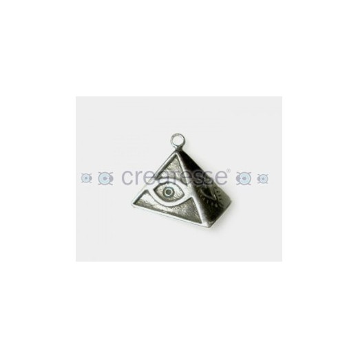 COLGANTE ZAMAK PIRAMIDE ANGEL ROCK 26MM PLATA VIEJA