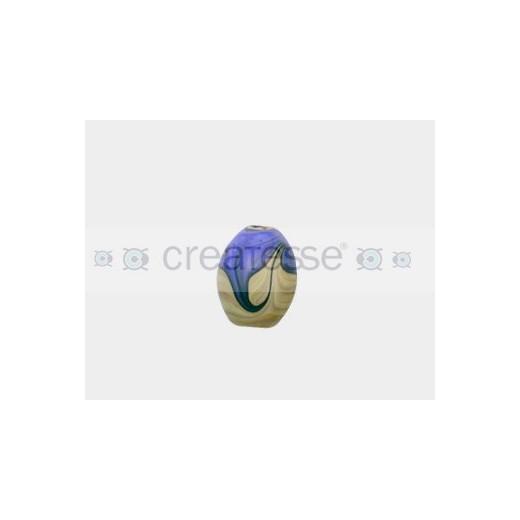 CRISTAL ESTRATOS TONEL 22X18 (ID 3MM) AZUL-BEIGE