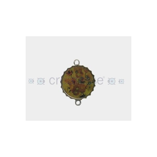CHAPA METAL 29MM VAN GOGH GIRASOLES
