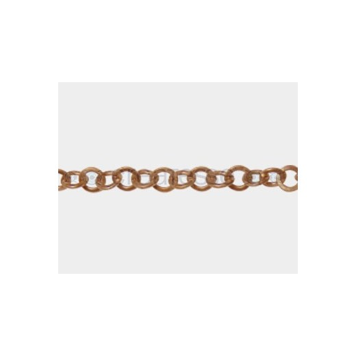 CADENA ACERO OVAL 8MM COBRE ANTIC