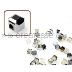 CUBO CRISTAL 4MM (ID 1MM) -20 UN 7101 CRYSTAL METALLIC
