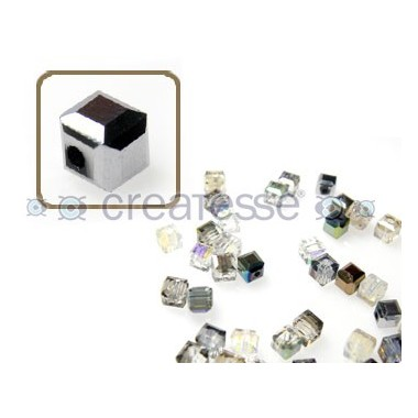 CUBO CRISTAL 4MM (ID 1MM) -20 UN 7101 CRYSTAL METALLIC