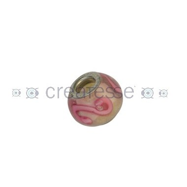 BOLA INTERIOR METAL ID 5 MM 15 MM TRANSPARENTE-ONDA ROSA
