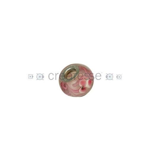 BOLA INTERIOR METAL ID 5 MM 15 MM ROSA-FLORES