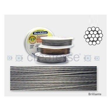 CORDON ACERO 19-015 BRILLANTE (0,38 MM) 9,2 M BEADALON