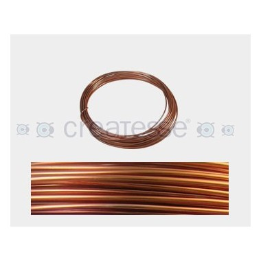 CABLE ALUMINIO MALEABLE 1MM COBRE BRILLANTE -12 METROS